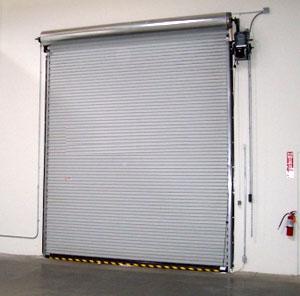 roll-up door with motor